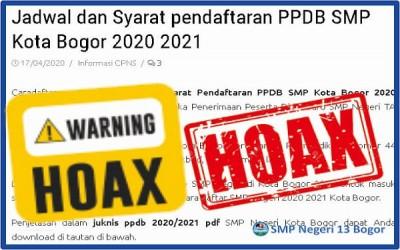 HOAX!!! Jadwal PPDB SMP Kota Bogor Tahun Pelajaran 2020/2021